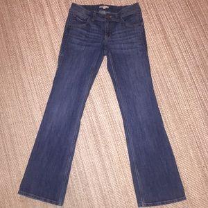 CAbi Bootcut Jeans Button Pockets Blue Size 8